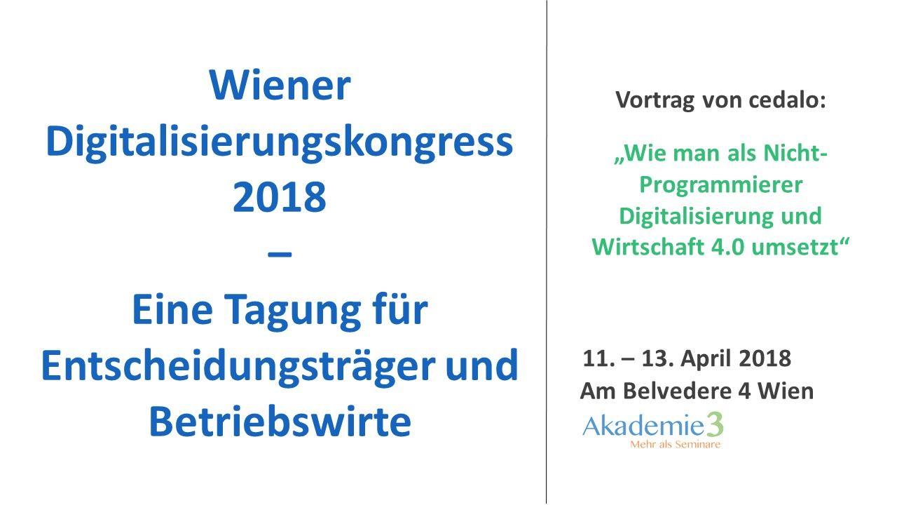 Wiener Digitalisierungskongress 2018