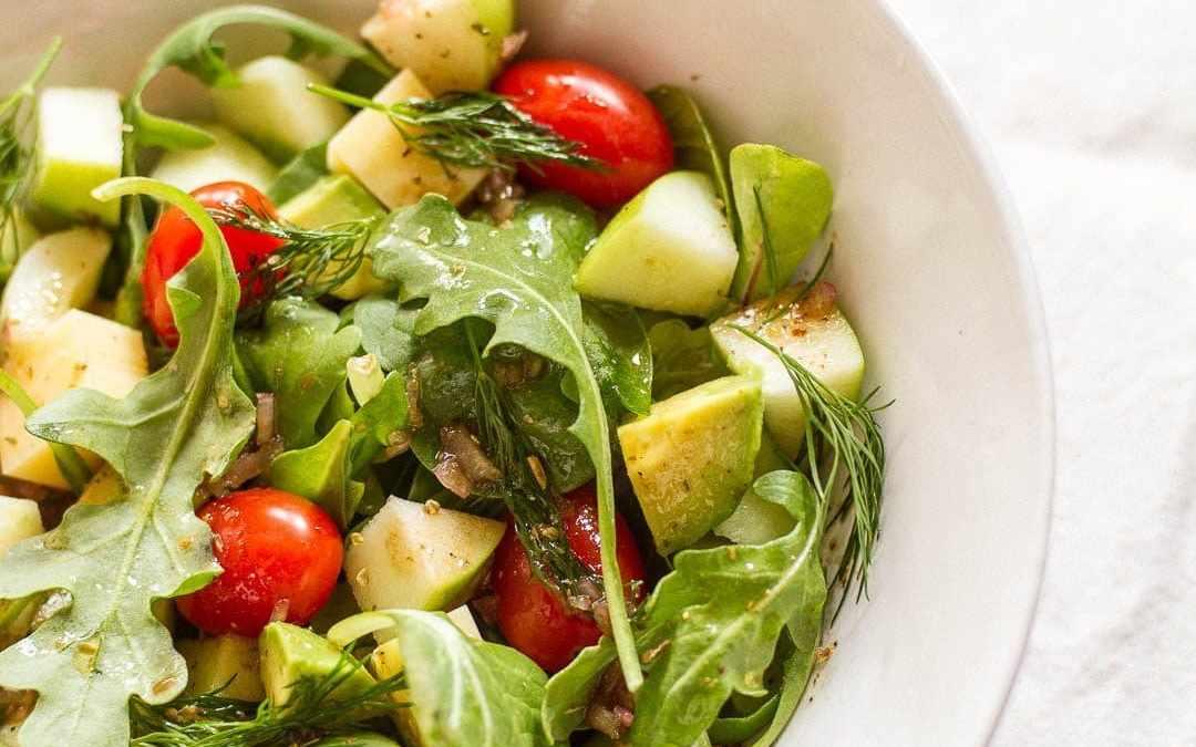 Apple Oregano Salad & My Favorite Salad Dressing
