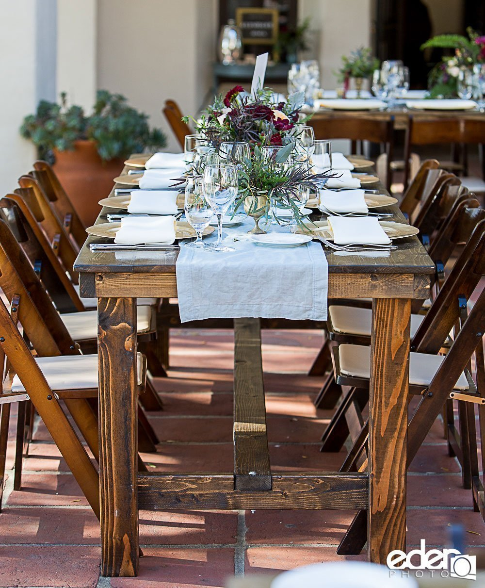 San Diego Farm Table Rentals Hairpin Farm Table Rentals