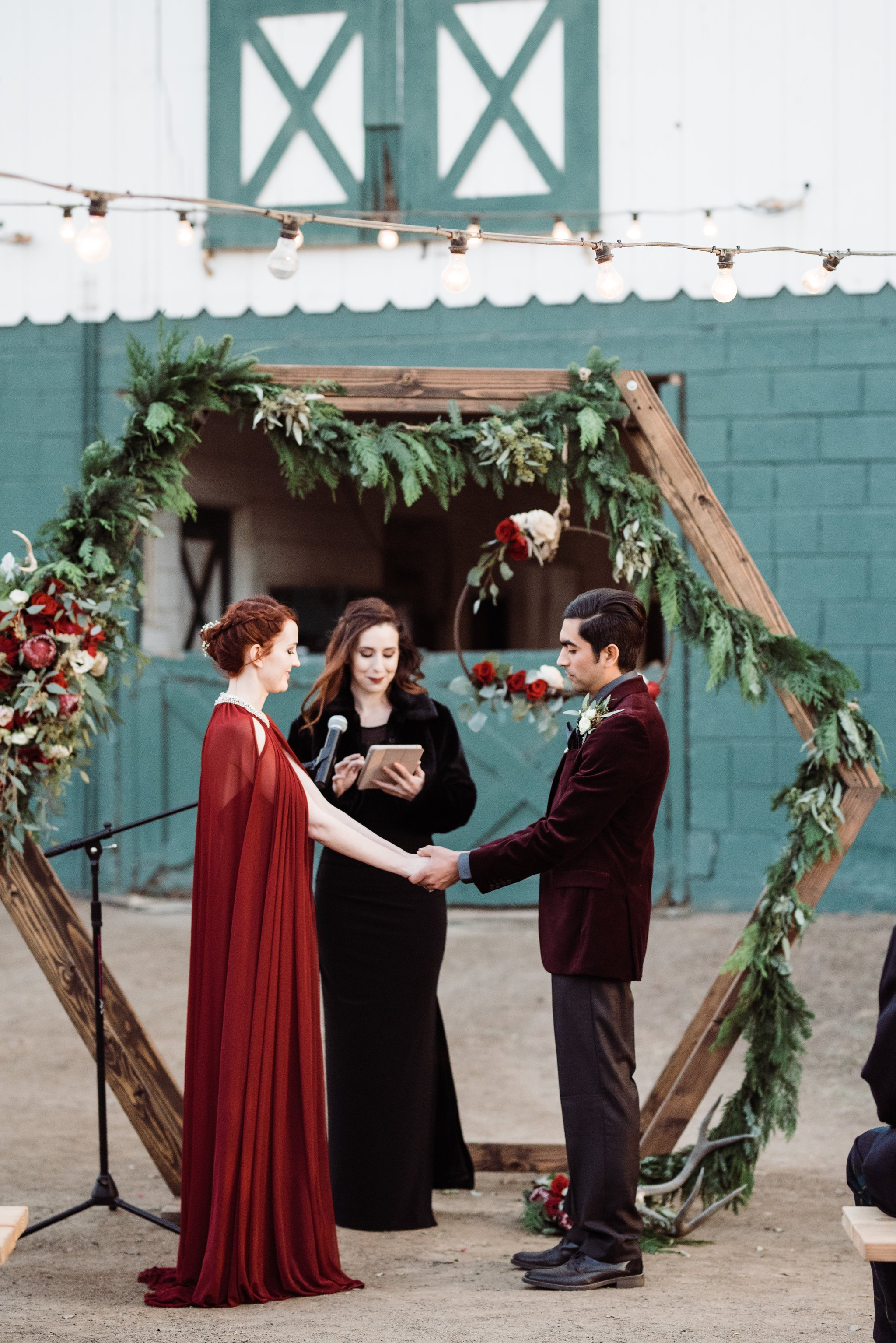 Wood Geometric Ceremony Arch Rental Circle Ceremony Arch Rental San Diego
