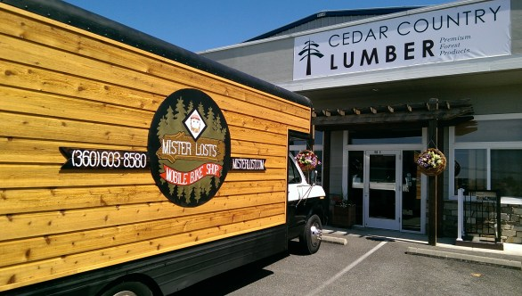 Western Red Cedar is a great choice for exterior siding on mobile buildings and tiny homes