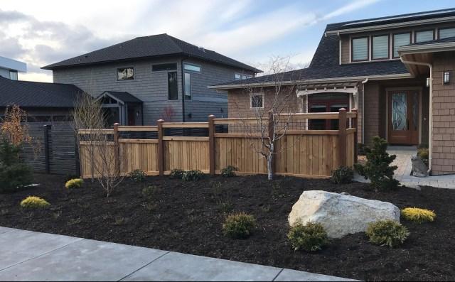 Custom Cedar Fences and Stained Western Red Cedar Shingles