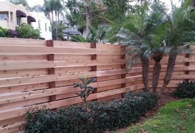 "5/4x6"" Western Red Cedar Decking Used as Vertically installed Fencing"