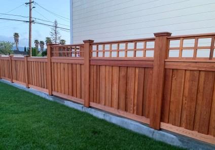 custom clear western red cedar fence