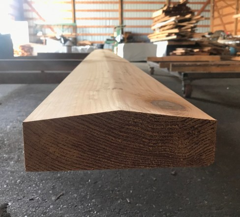 Custom Milled Knotty Western Red Cedar Rail Cap