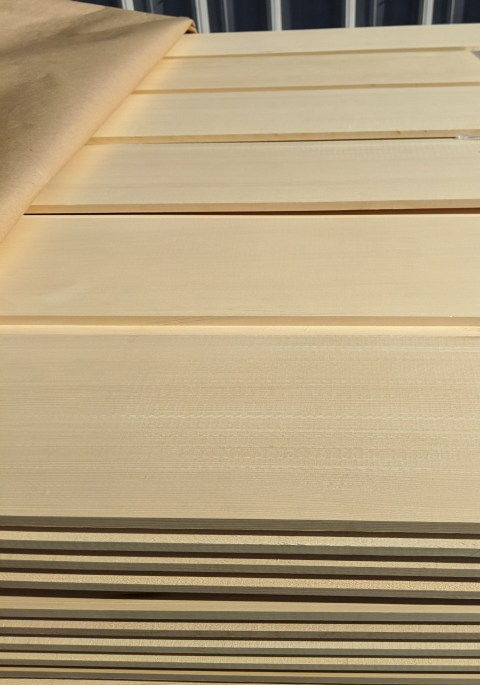 custom milled clear, Alaska Yellow Cedar cladding