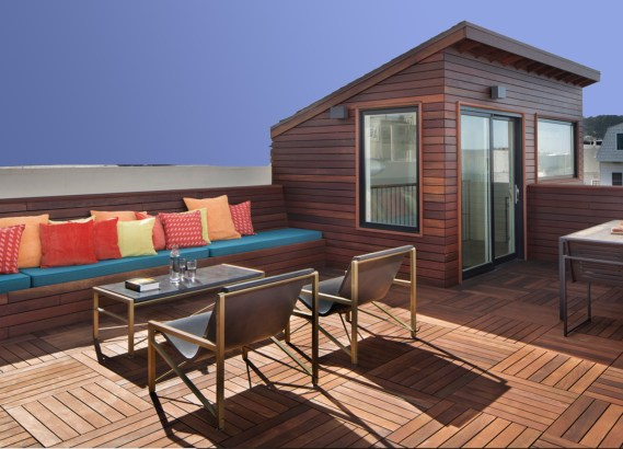Red Batu Mahogany deck tiles and siding