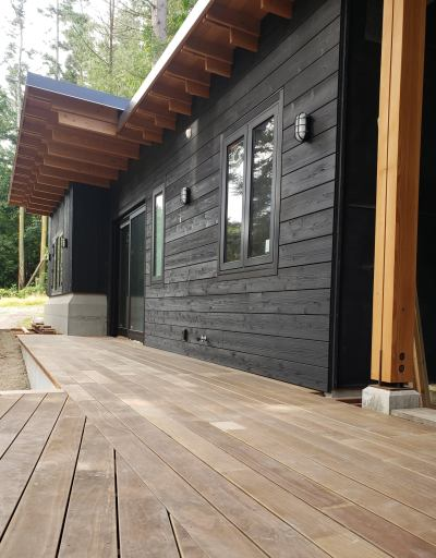 Kebony decking provided by Cedar Country Lumber of Burlington, WA