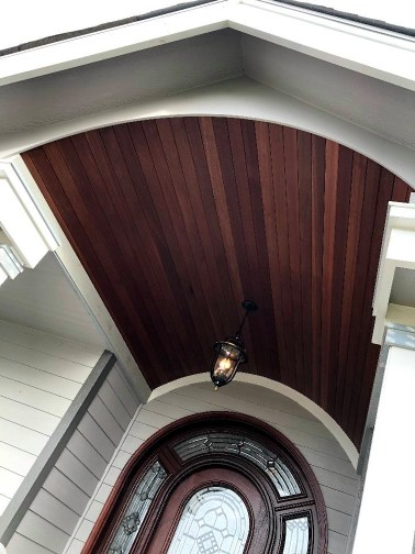 1x4 clear Mahogany T&G for exterior soffits and ceilings