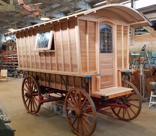 Vintage Covered Wagon Restoration