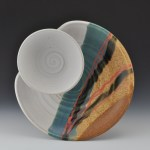 Blue Eagle Pottery's Small Chip & Dip in Soft White