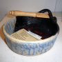 Earth Tones Pottery Brie Baker w/ Knife in Black