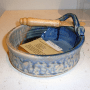 Earth Tones Pottery's Brie Baker in Blue