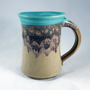 Clay in Motion Large Mug in Island Oasis