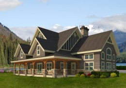 Post and Beam   Cedar Homes Area 2934 Sq Ft   view house plan