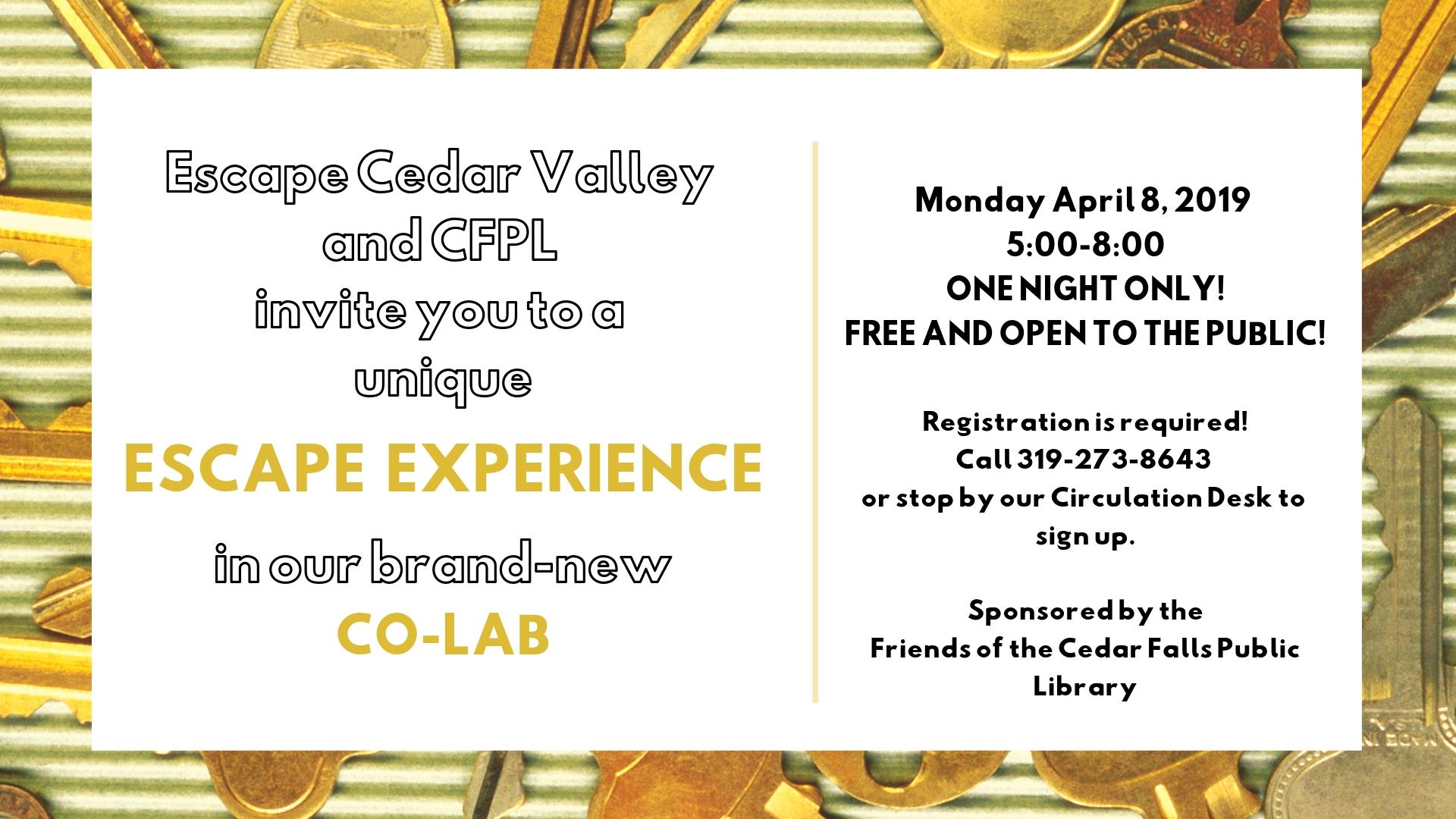 Escape Cedar Valley >> Escape The Library Slide Cedar Falls Public Library