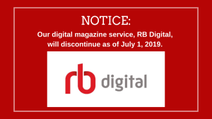 RB Digital Magazine Discontinued Graphic