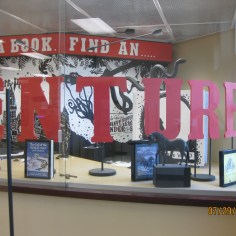The Refern Display Case is located immediately within the library entrance
