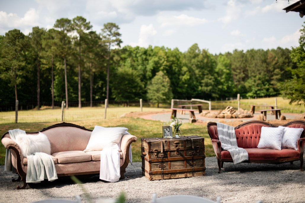 Fire pit area overlooking the pastures