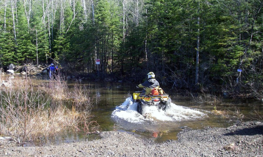 ATV Riders enjoying an ATV Trail in Restoule