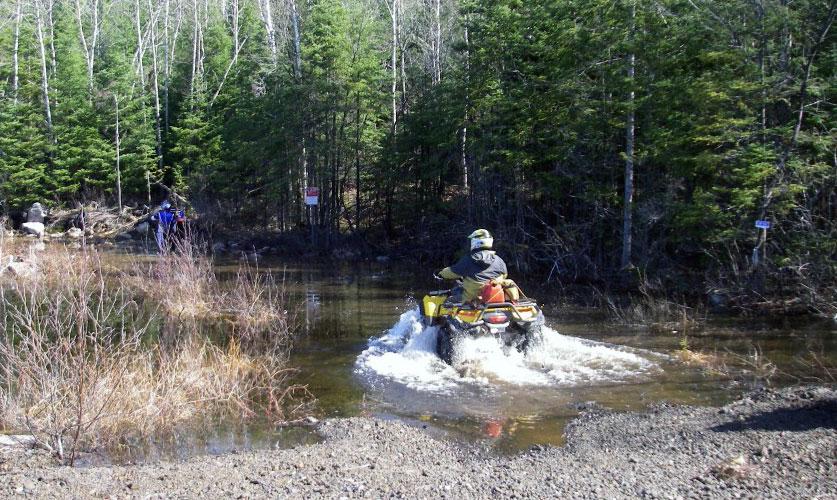 ATV Riders enjoying an ATV Trail in Restoule