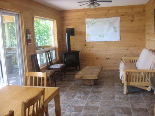 Edwards Edge Cottage living area - Winterized Cottage