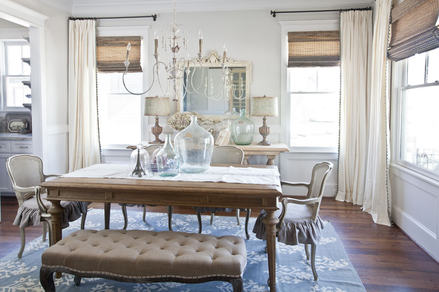 New Curtains for the Dining Room - Cedar Hill Farmhouse on Farmhouse Dining Room Curtains  id=91538