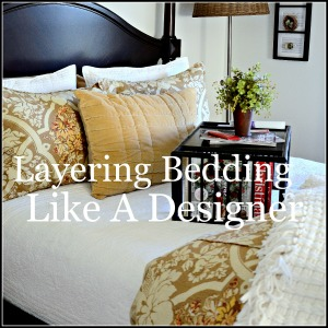 LAYER BEDDING LIKE A DESIGNER-button-stonegableblog.com