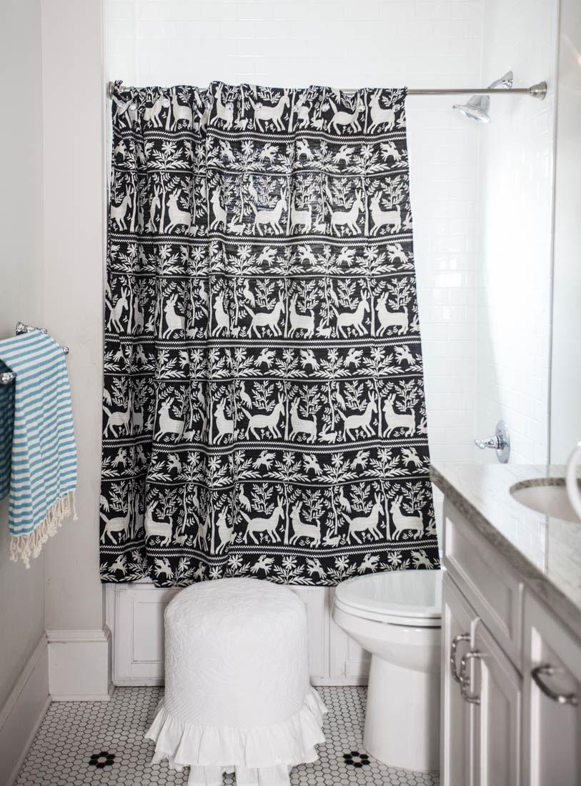 Black And White Shower Curtain Cedar Hill Farmhouse