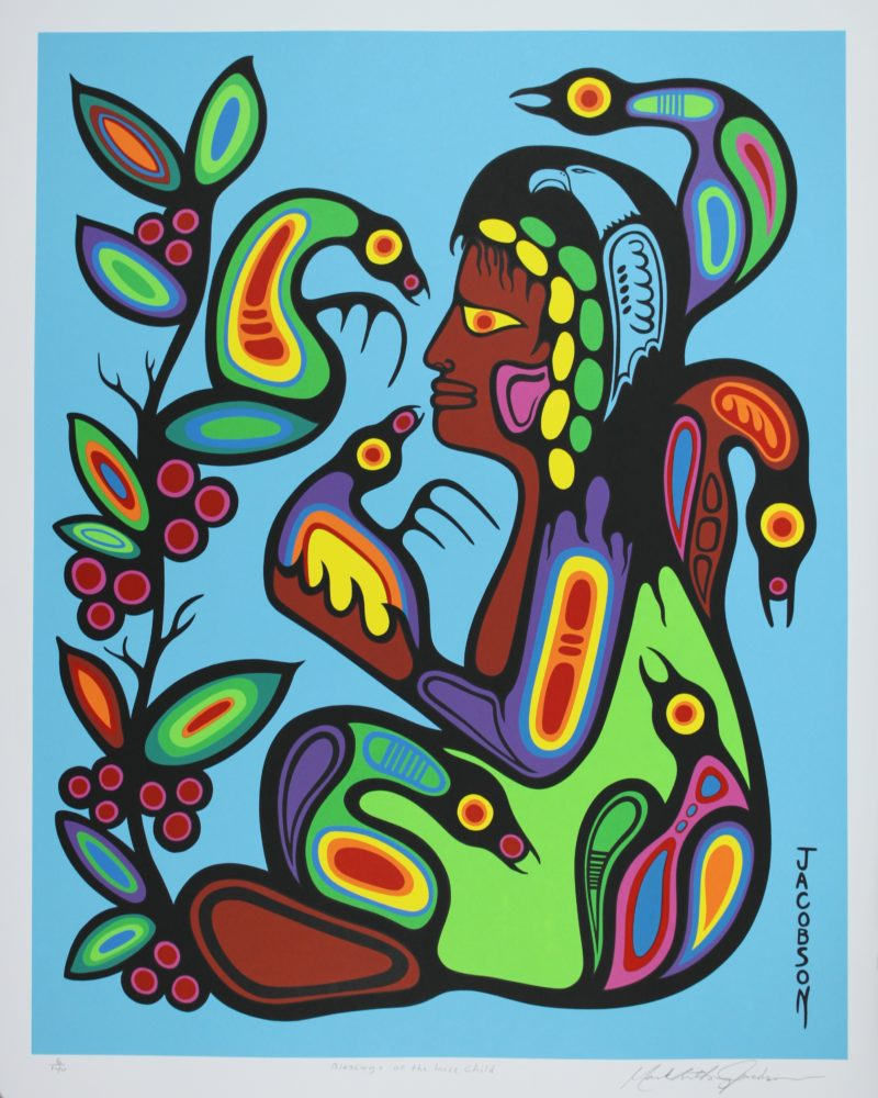 Woodland print titled Blessings Of The Inner Child by Mark Anthony Jacobson