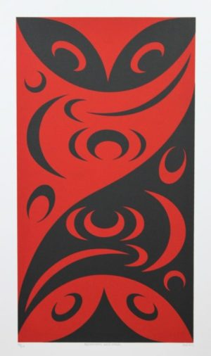 Redefining Each Other, lessLIE, Native Art, Limited Edition Screen Print, Serigraph