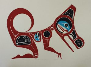 Man Changing Into A Wolf, Art Thompson, Native Art Print, Indigenous Art, Northwest Coast Art, First Nations Art, Native American Art