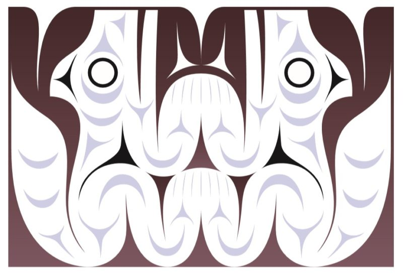 Design of two Salish Wool Dogs by Dylan Thomas