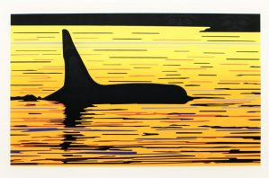 Orca Sunset, Native Print, Roy Henry Vickers