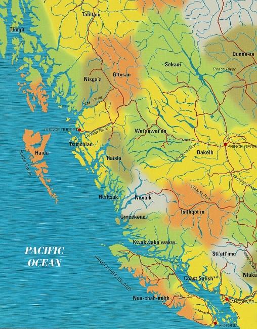 First Nations Map, Northwest coast, Native Art, Aboriginal, Indigenous, Northwest Coast, First Nations, Native American