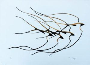 Birds In Flight, Benjamin Chee Chee, Native Art Print, Aboriginal Art, Indigenous Art, Northwest Coast Art, First Nations Art, Native American Art