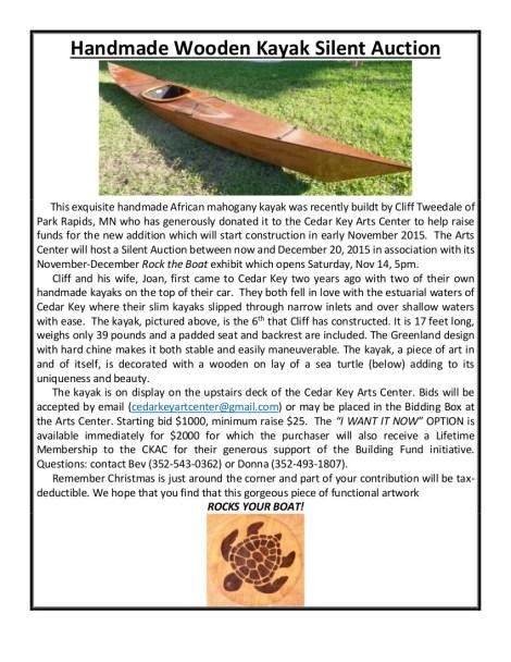 DEC 4 Poster for Wooden Boat 1