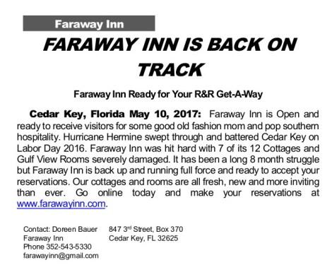 MAY 10 FARAWAY INN Press Release May 2017