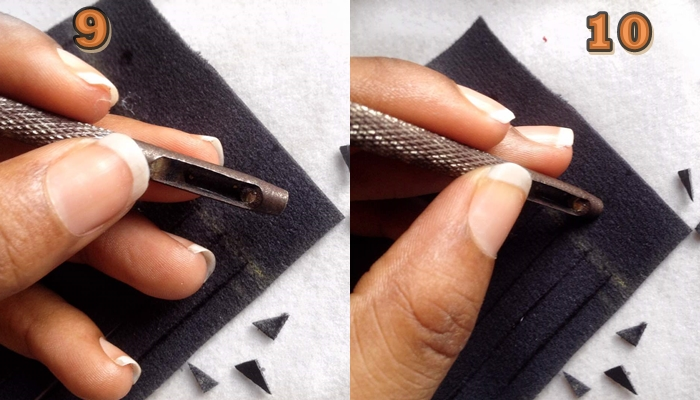 do it yourself fringe sneakers, what a punching tool looks like