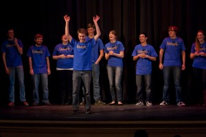 DTR entertains students with its improv comedy routines. (Photo: Jillian Philyaw)