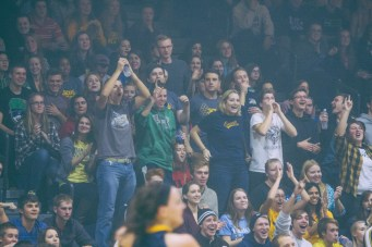 The crowd reacts to a basket scored by the Lady Jackets. (Photo: Jillian Philyaw)