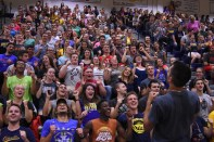 More than 1,100 students came out to support the Lady Jackets in their home opener Sept. 8.