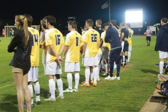 Cedarville defeated Mercyhurst Tuesday night 4-3. (Photo: Alex Weber)