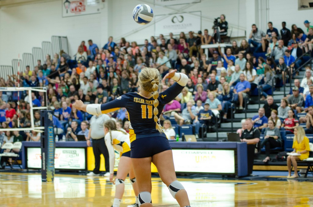 Cedarville Volleyball Swept Against Anderson
