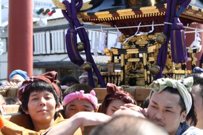 Here comes the mikoshi!