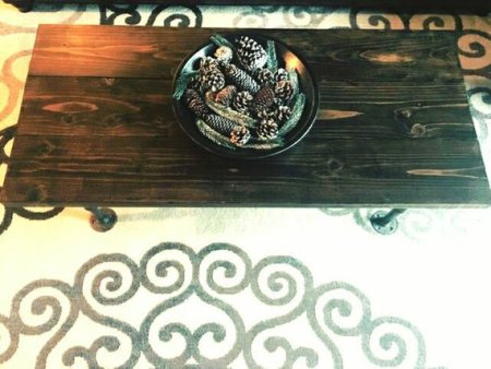 rustic pipe coffee table