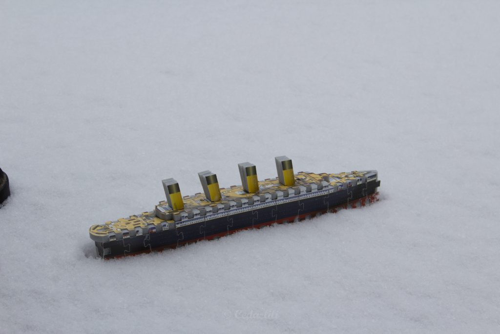 The Titanic in snow