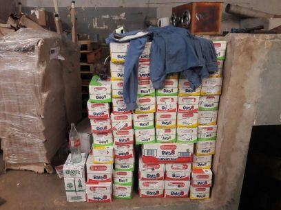 Llegada de mercaderia -- 400 litros de leche