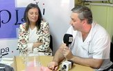 Liana Montero (Miembro Comision Ejecutiva CEDA) y Dr. Balsa (Director Hospital)