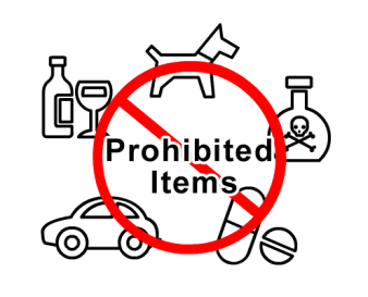 PROHIBITED ITEMS ON JET